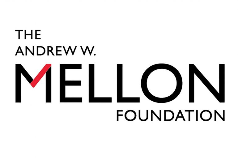 Photo description: The Andrew W. Mellon Foundation logo