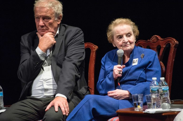 Secretary Madeleine Albright and Amb. Martin Palous